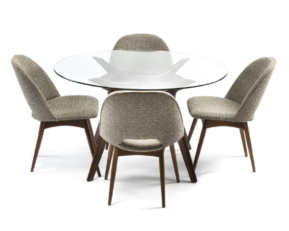 A five-piece Adrian Pearsall dining set