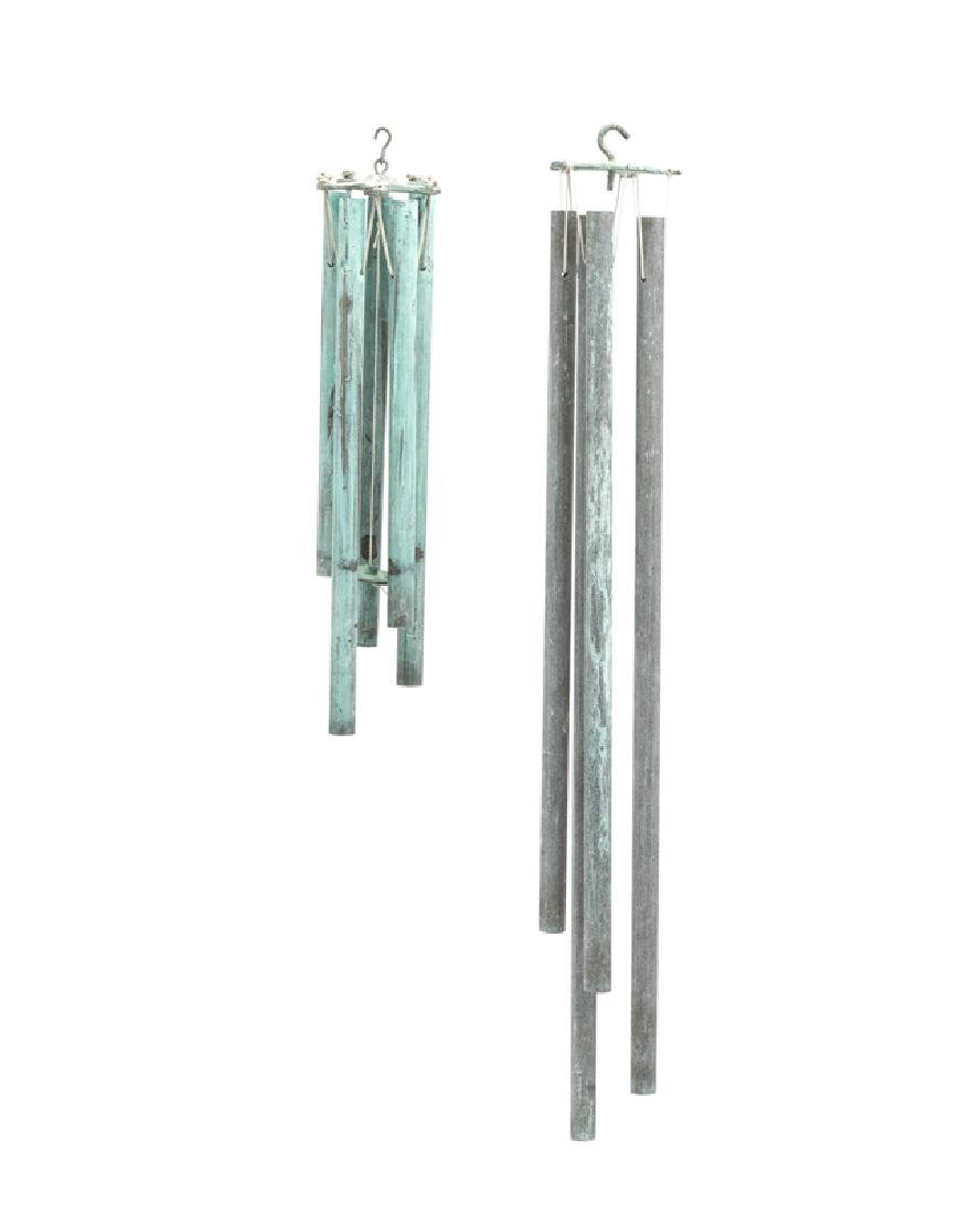 A set of two Walter Lamb wind chimes