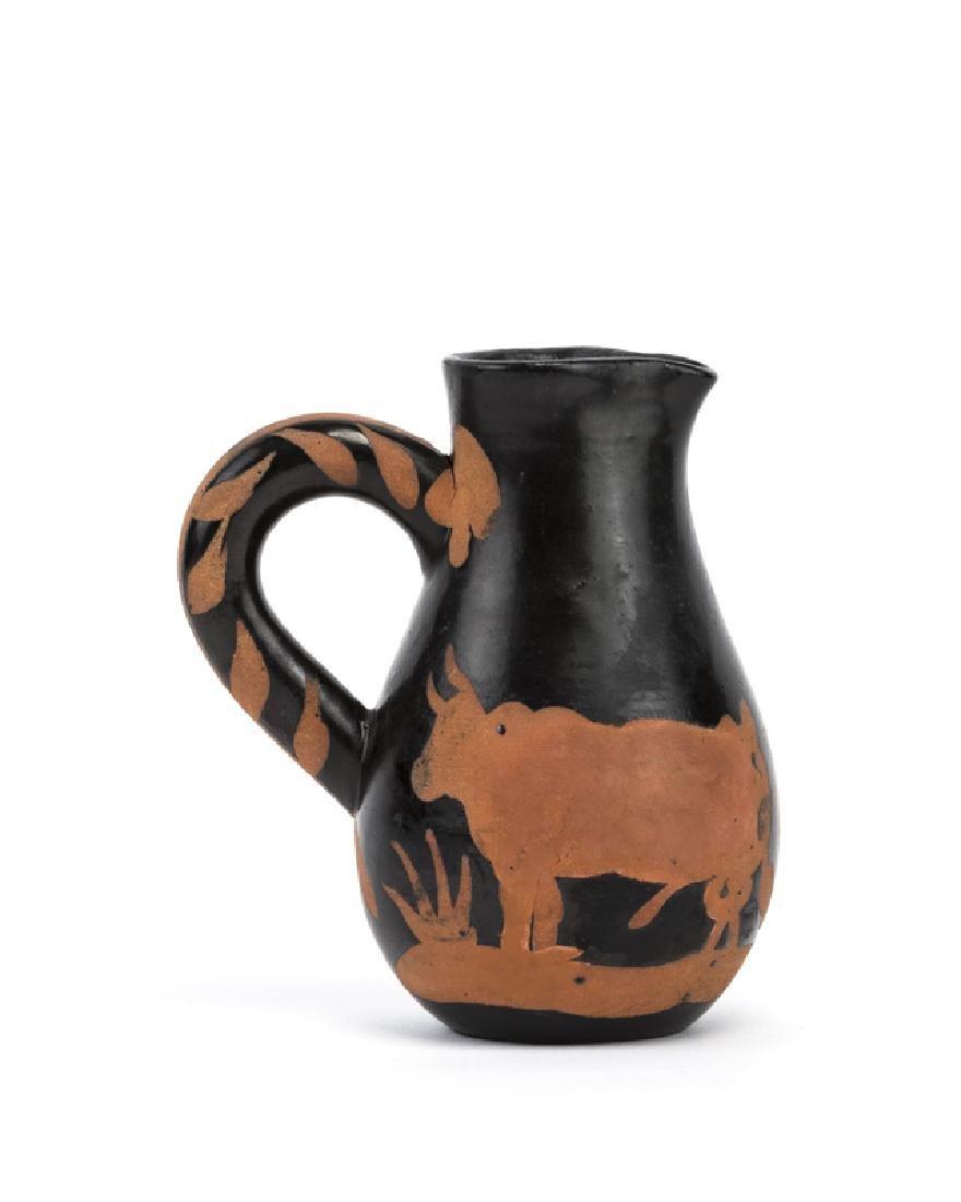 A Pablo Picasso for Madoura ''Picador'' handled jug