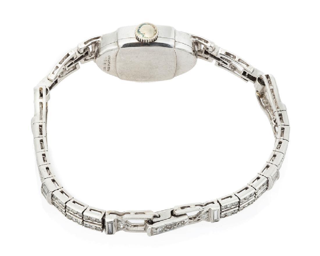 An Art Deco diamond manual wristwatch, Hamilton - 2
