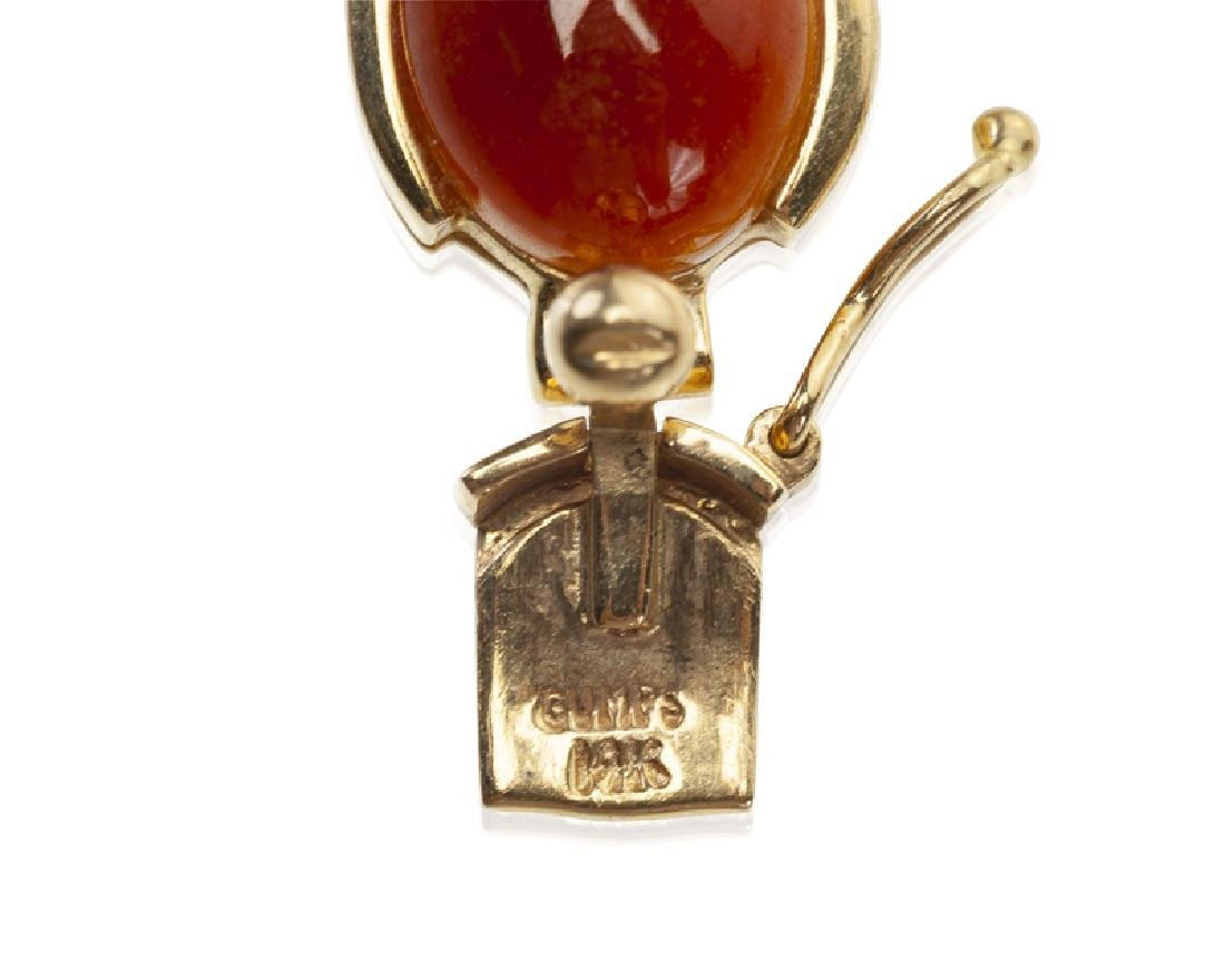 A group of carnelian jewelry, including GUMPS - 3
