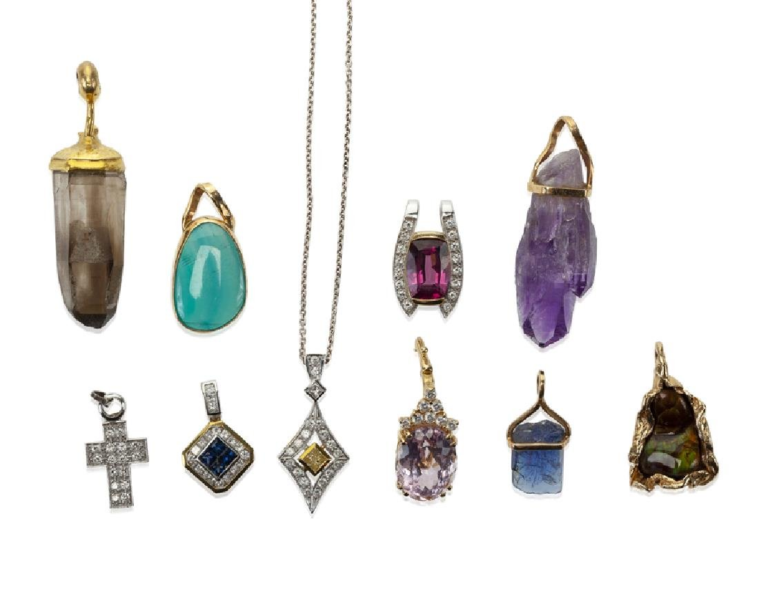A group of gemstone jewelry - 2