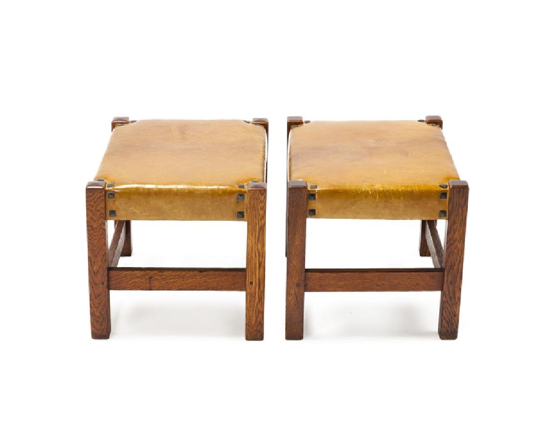 A pair of footstools, Gustav Stickley - 2