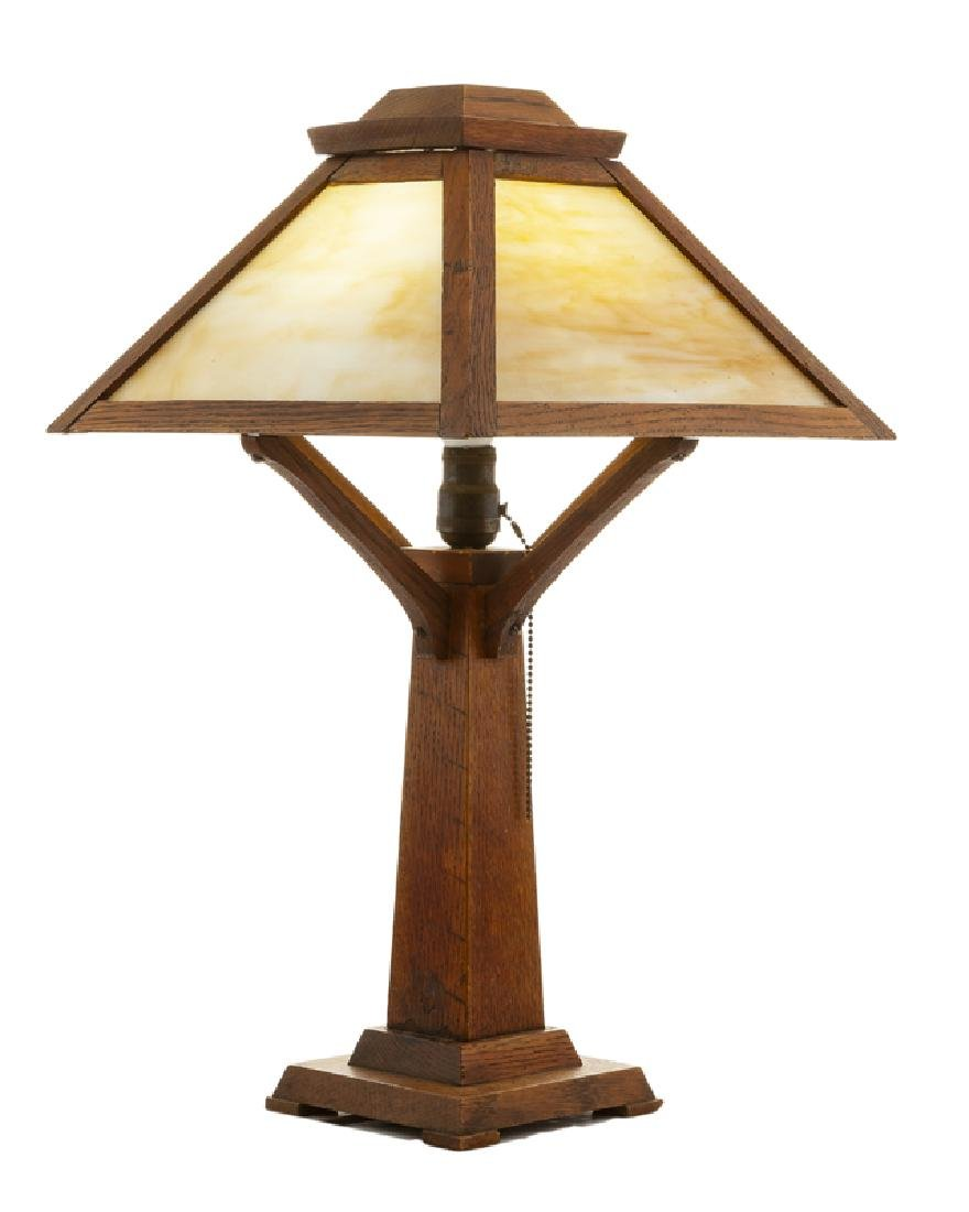 An Arts & Crafts table lamp