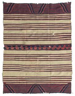 A Navajo classic period child's wearing blanket