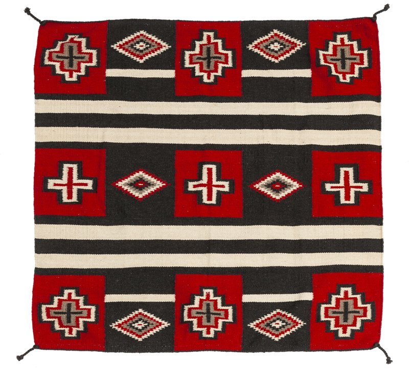 A Navajo-style third phase wearing blanket-style rug