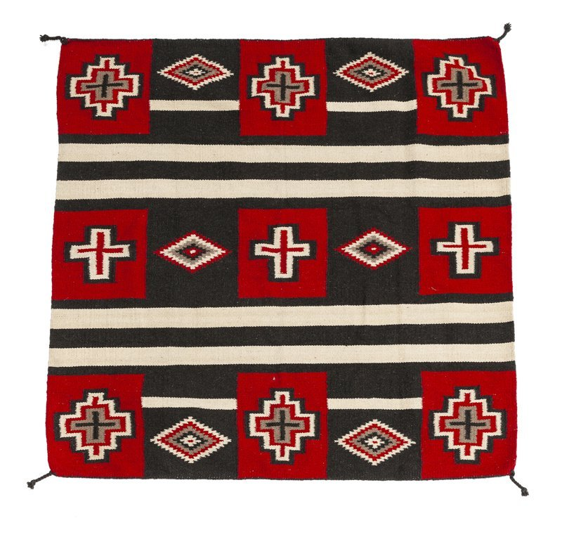 A Navajo-style third phase wearing blanket-style rug - 2