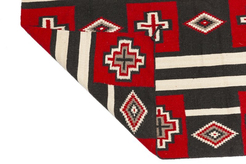 A Navajo-style third phase wearing blanket-style rug - 3