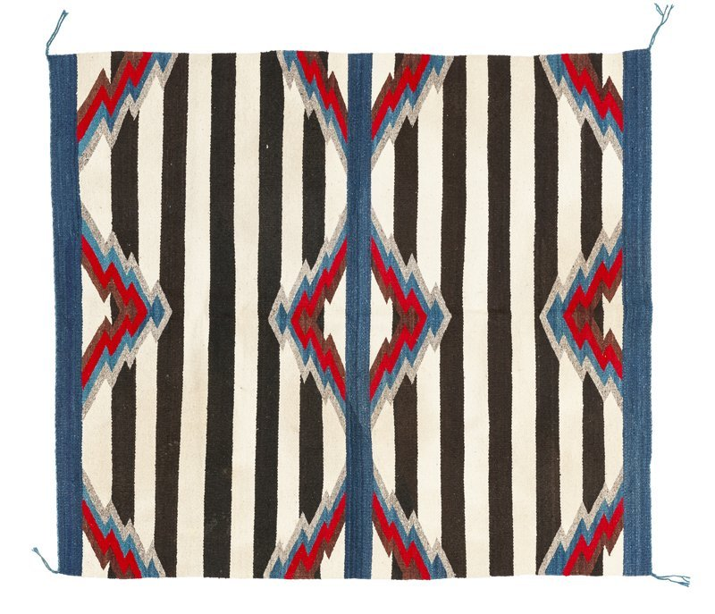 A Navajo third phase chief's blanket-style rug