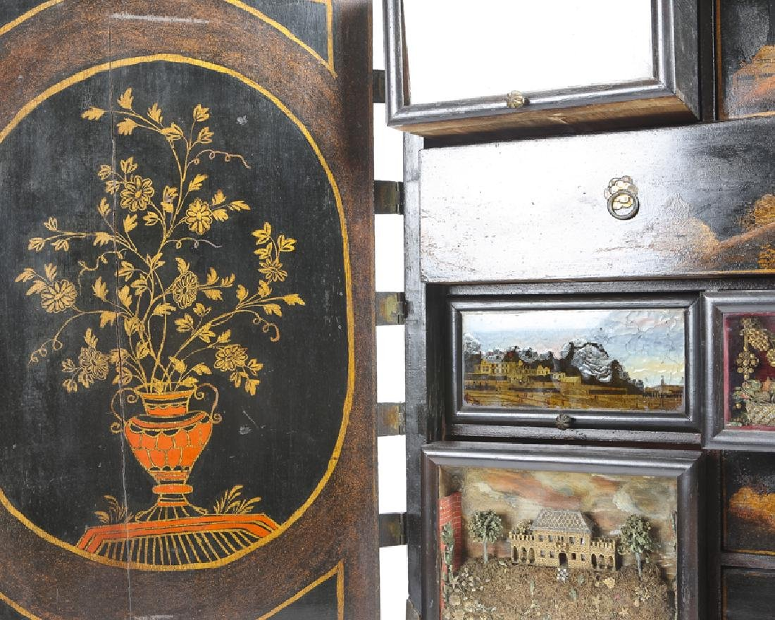 A Continental chinoiserie curio chest on stand - 6