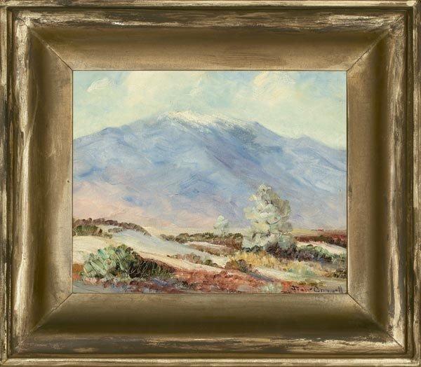 "1023: JOANE CROMWELL, ""MT. SAN GORGONIO"", OIL"
