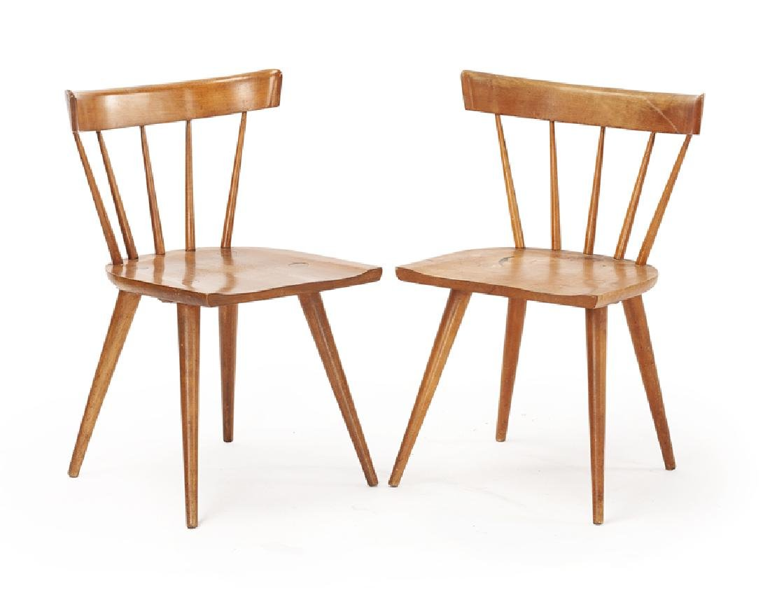 Two Paul McCobb Planner Group Spindle Back Side Chairs
