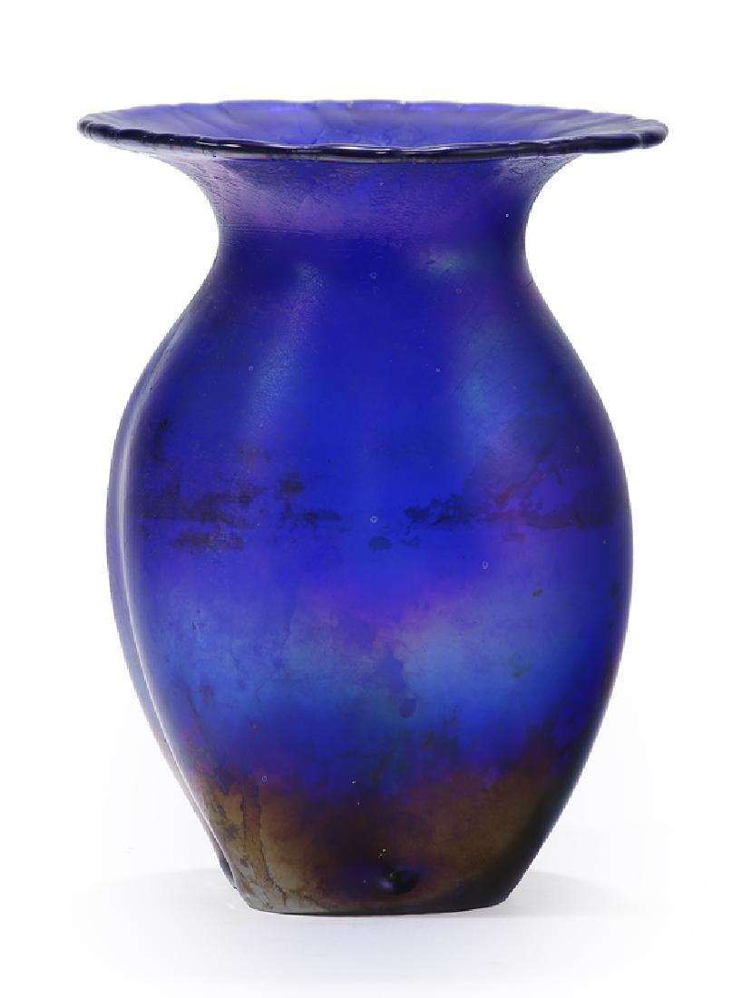 An art glass vase