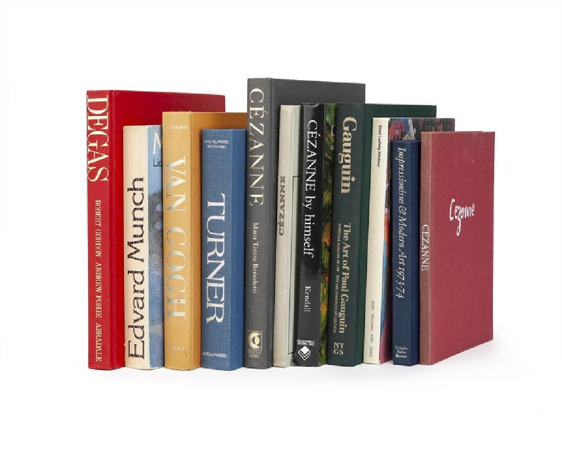 Eleven books on European artists