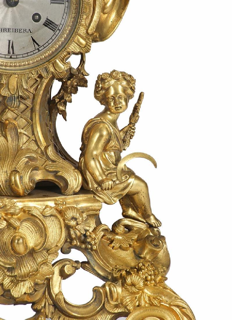 A Louis XV-style gilt-bronze mantel clock - 3