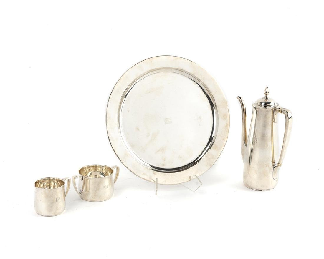 A Tiffany & Co sterling silver chocolate set