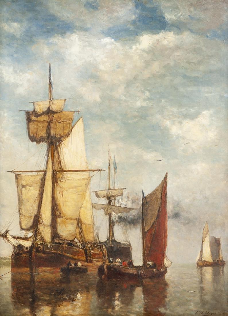 Paul Jean Clays (1819 - 1900 Belgian)