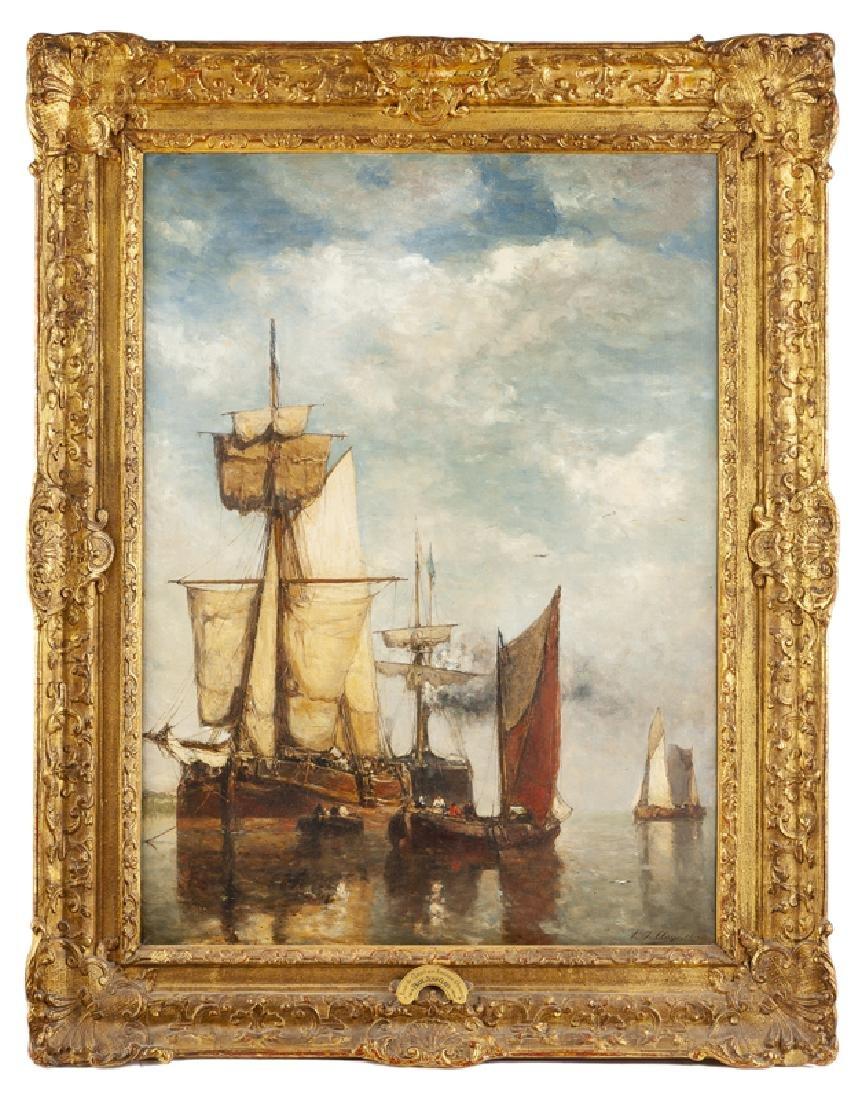 Paul Jean Clays (1819 - 1900 Belgian) - 2