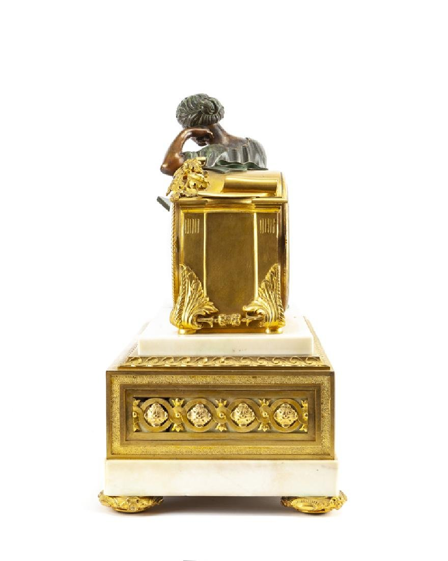 A French neoclassical-style gilt and patinated bronze - 3