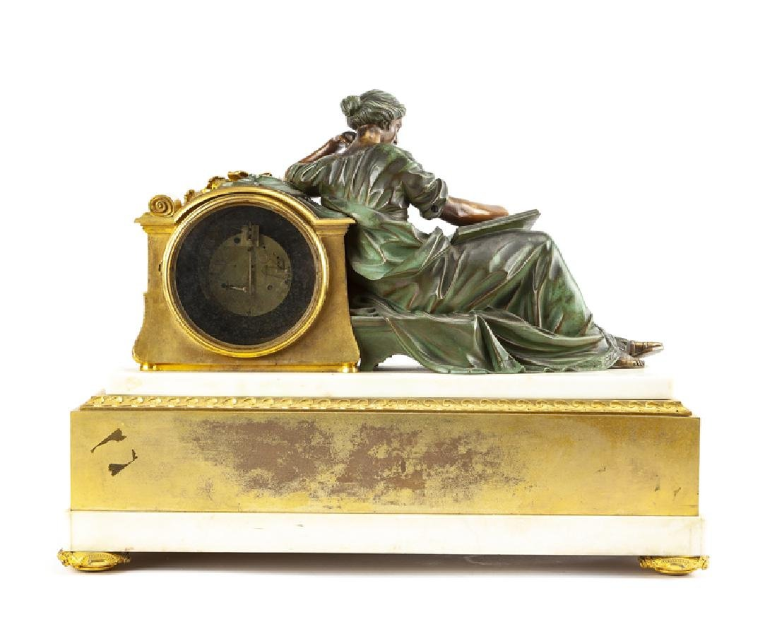 A French neoclassical-style gilt and patinated bronze - 4