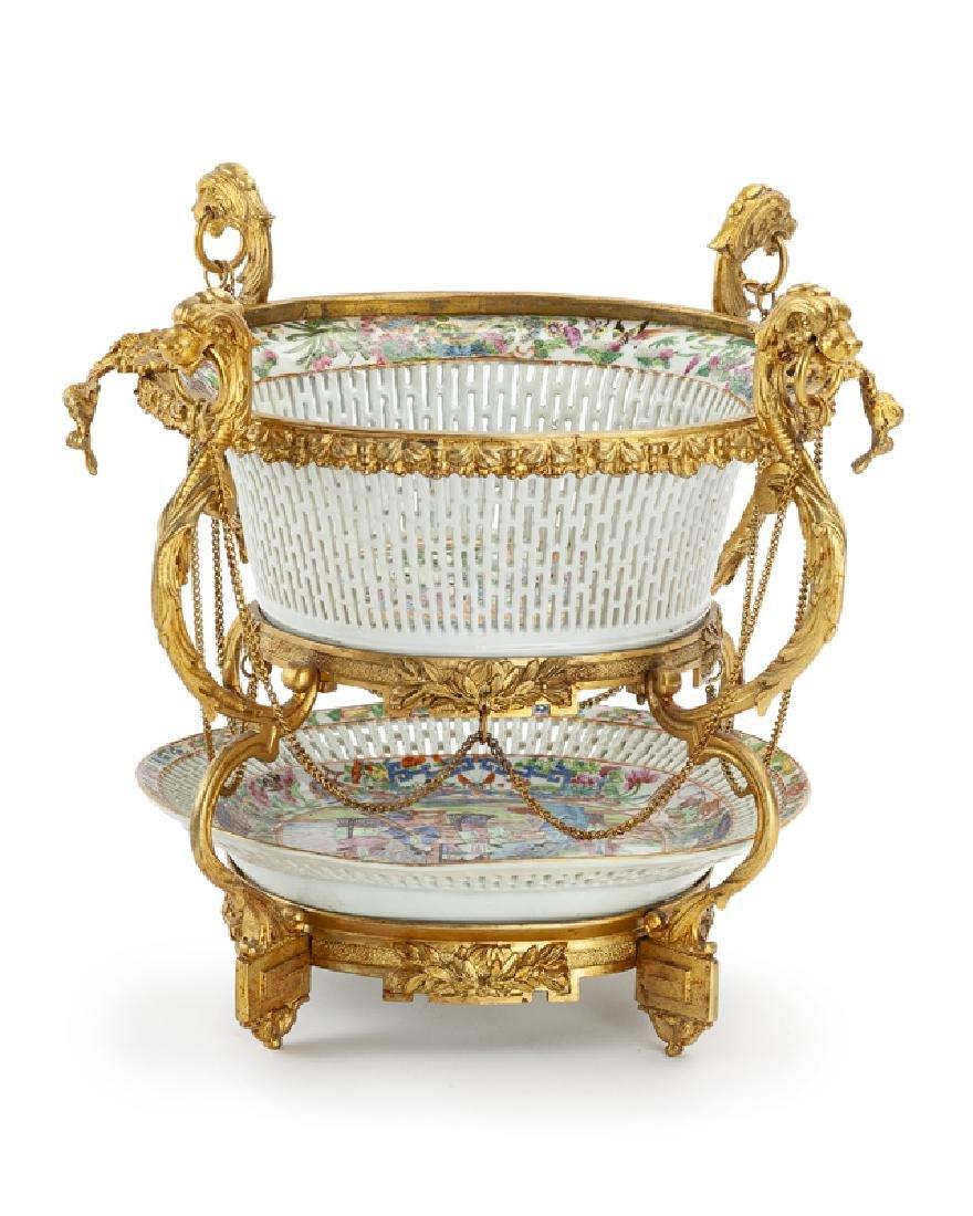 A French gilt-bronze centerpiece