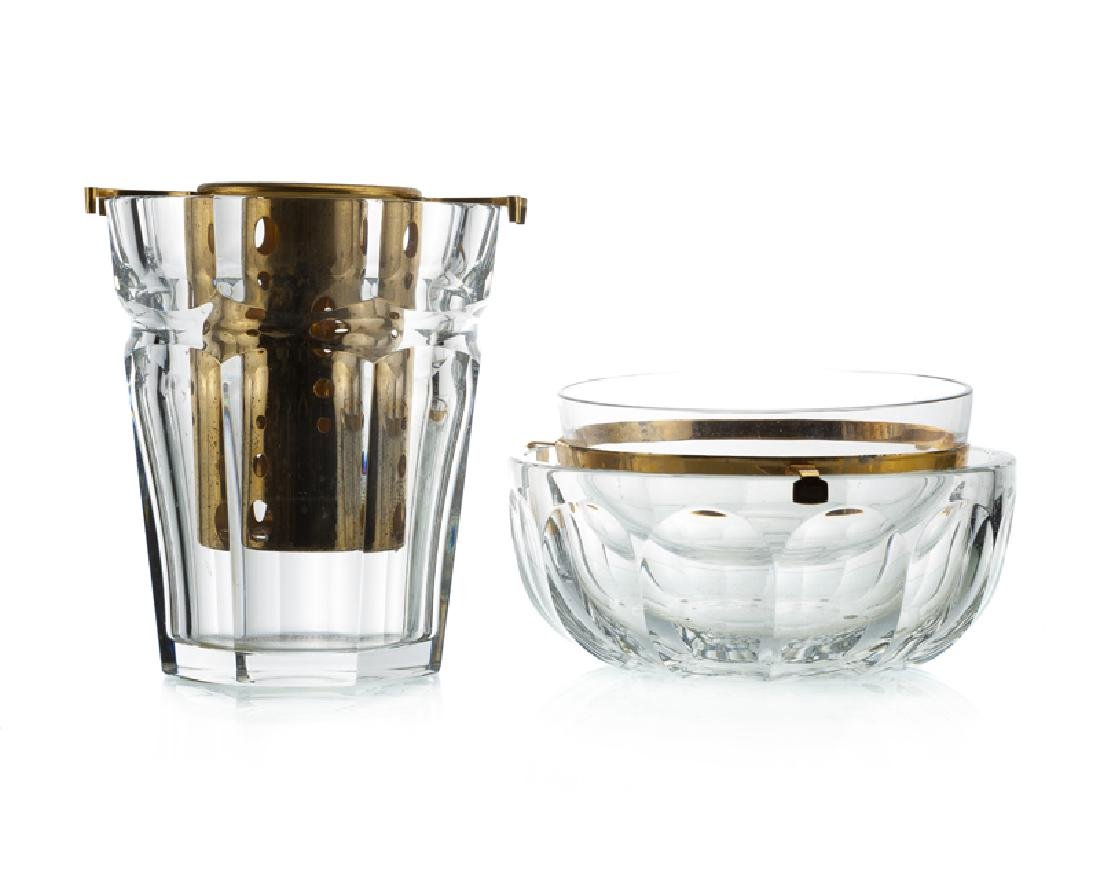 Two Baccarat serving items