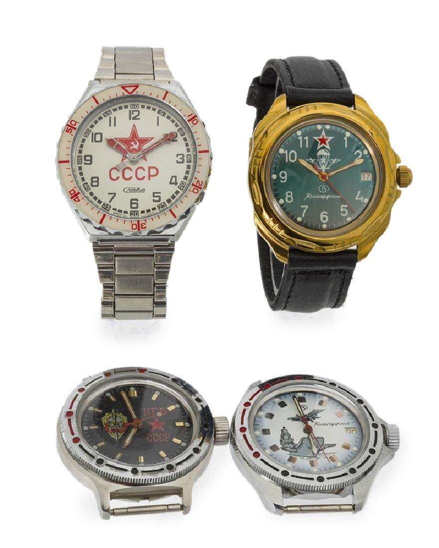 Four Russian wristwatches