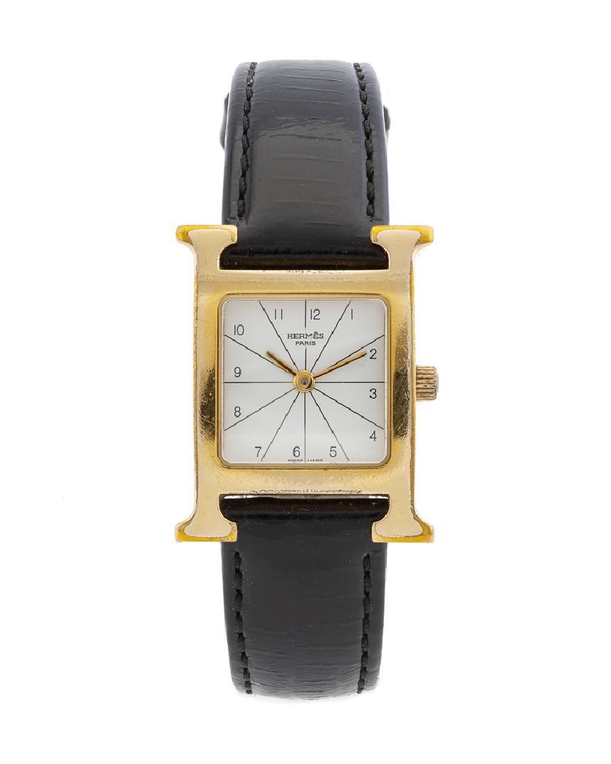 A Hermès ''Heure H'' vermeil wristwatch