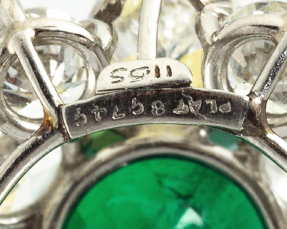 A Colombian emerald and diamond pendant - 4