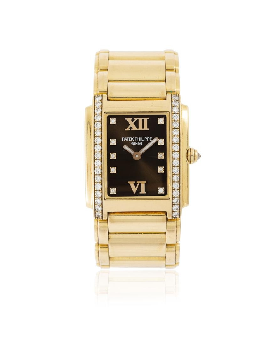 A ladies Patek Philippe ''Twenty-4'' gold wristwatch