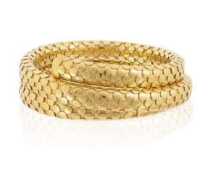 A gold ''Double Coil'' bracelet, John Hardy