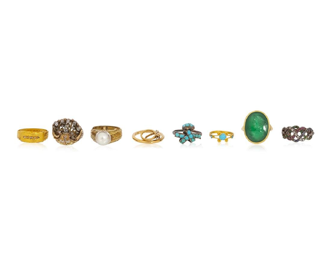 Eight Antique rings
