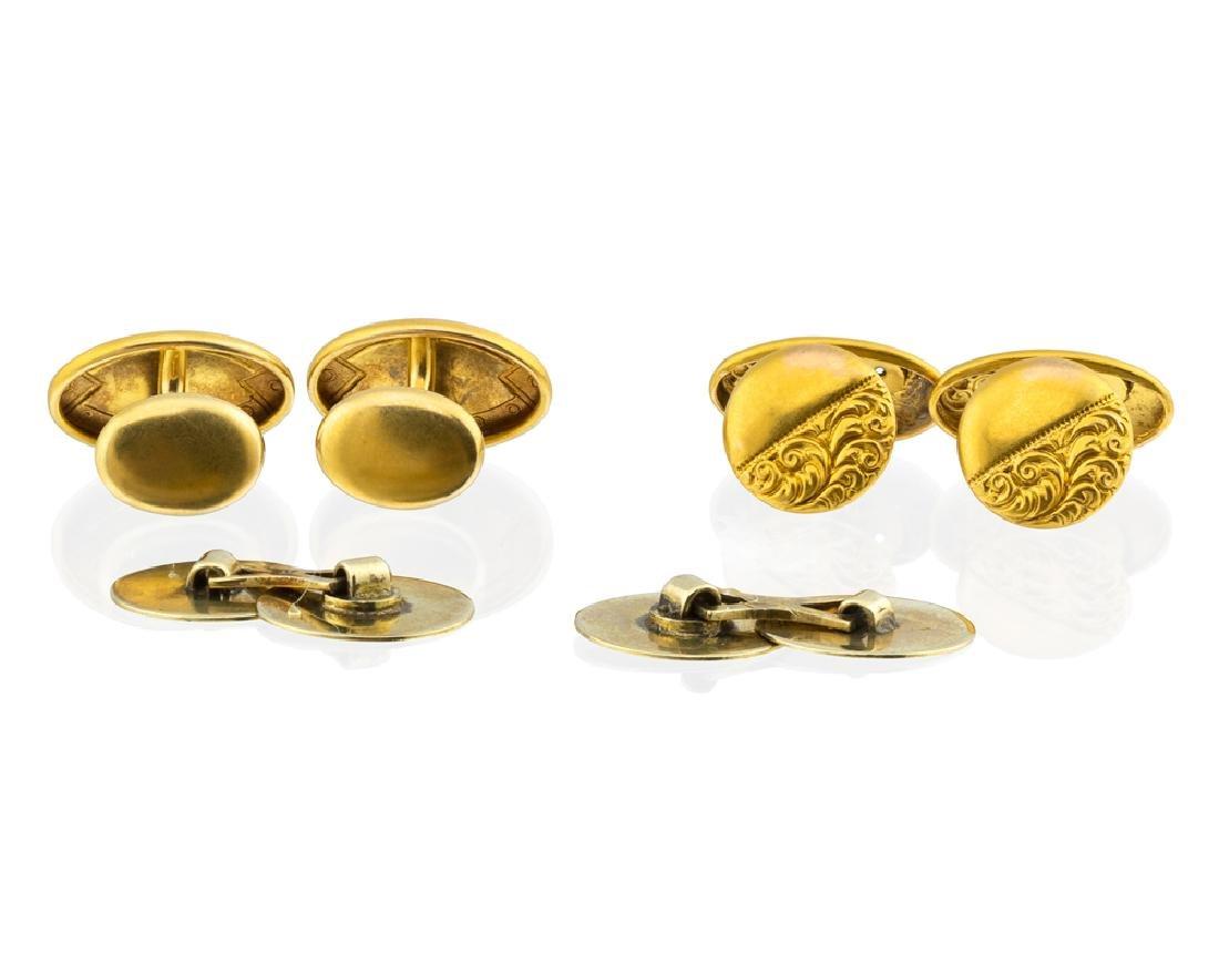 Three pairs of cufflinks - 2