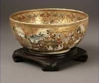 1197: A Japanese Satsuma porcelain bowl, Meiji period