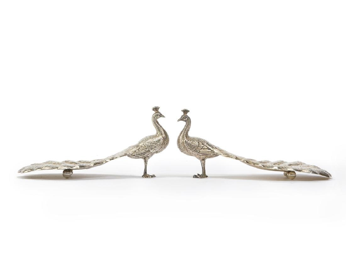 A pair of Gorham sterling silver figural nut dishes