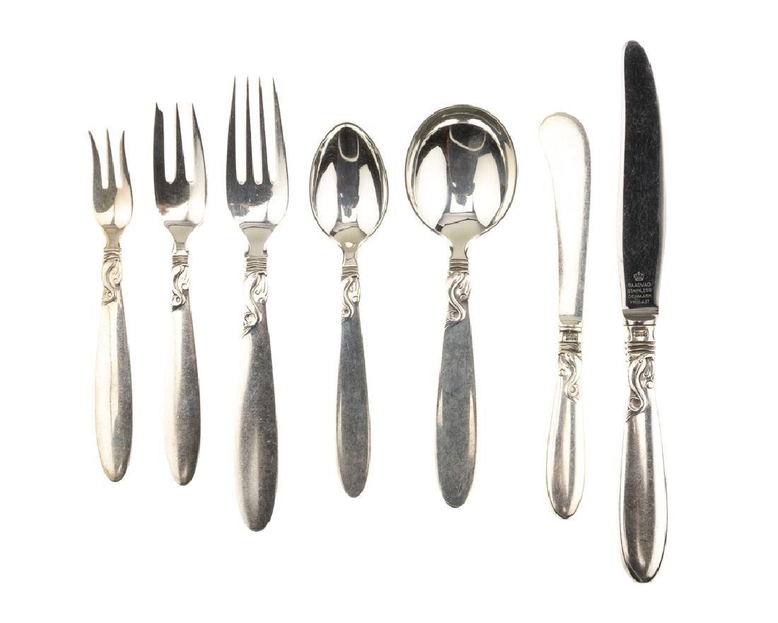 A Frigast ''Dolphin'' sterling silver flatware service