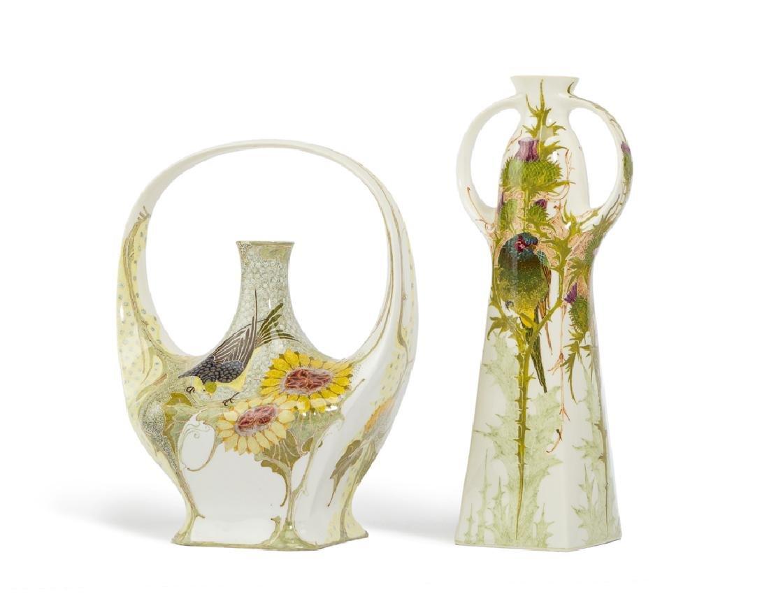 Two Rozenburg vases