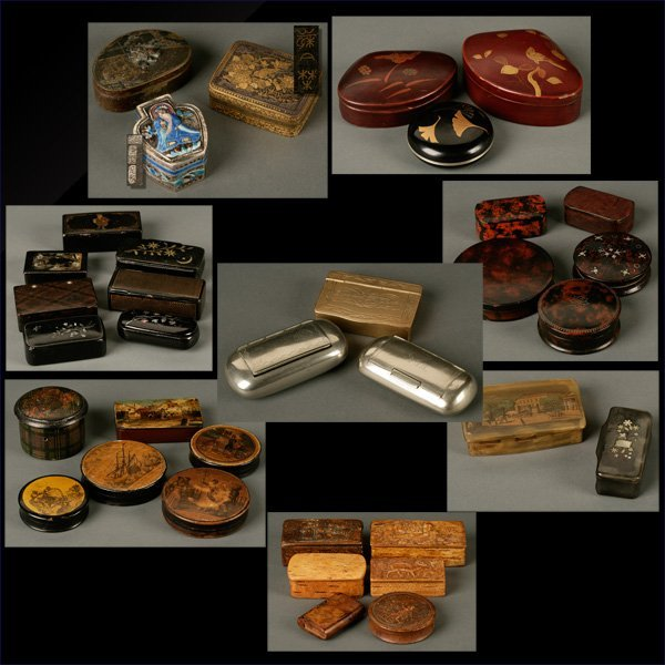 1012: A collection of snuff, patch and table boxes