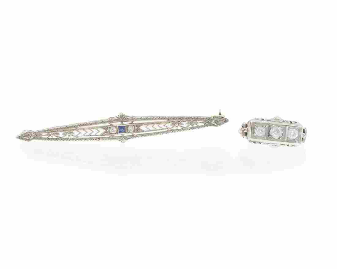 Two Art Deco jewelry items