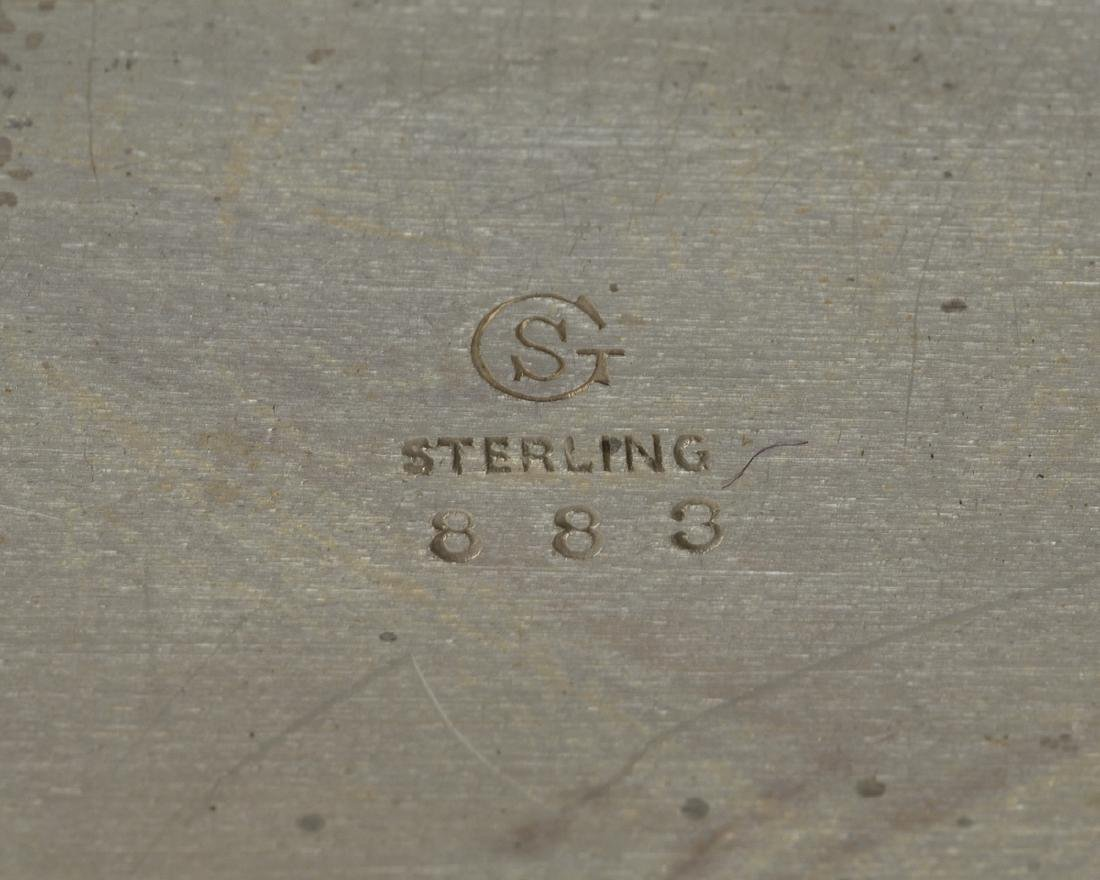 Two sterling silver table items - 5
