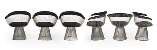 Six Warren Platner for Knoll armchairs