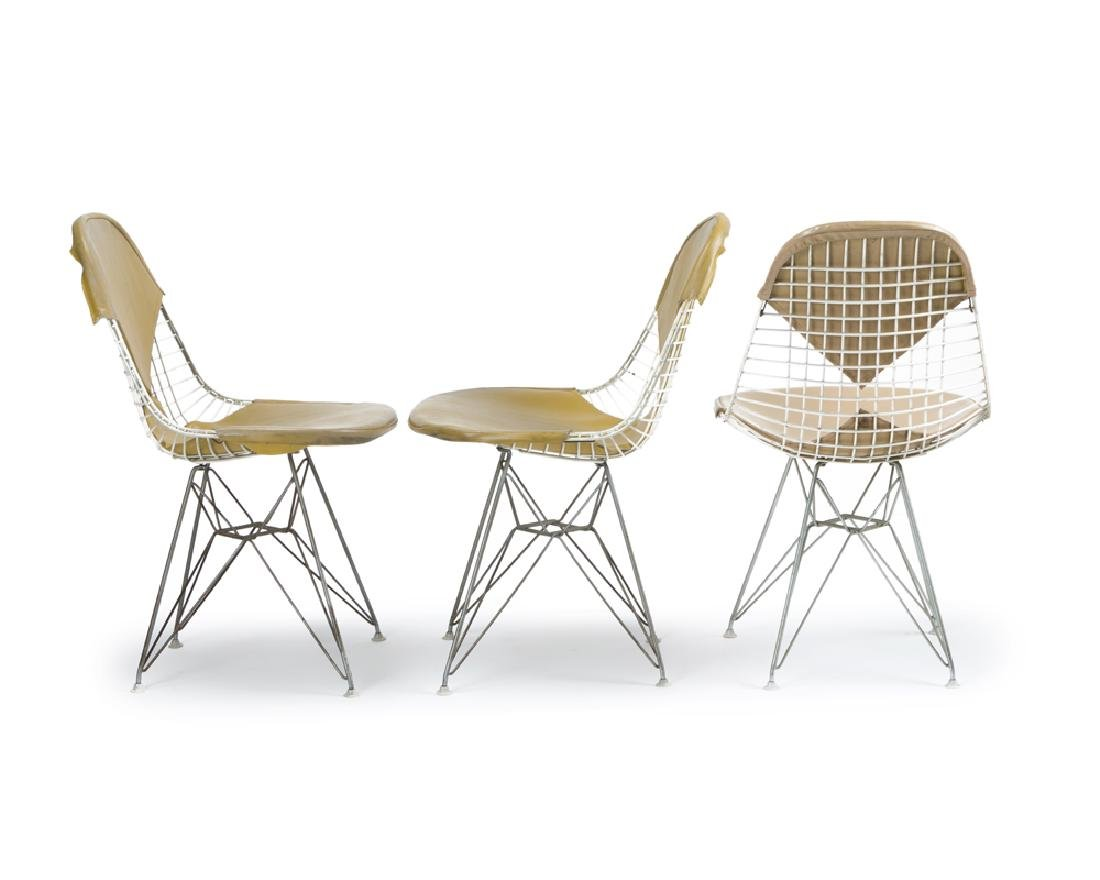 Three Eames for Herman Miller DKR ''Wire Mesh'' chairs - 2
