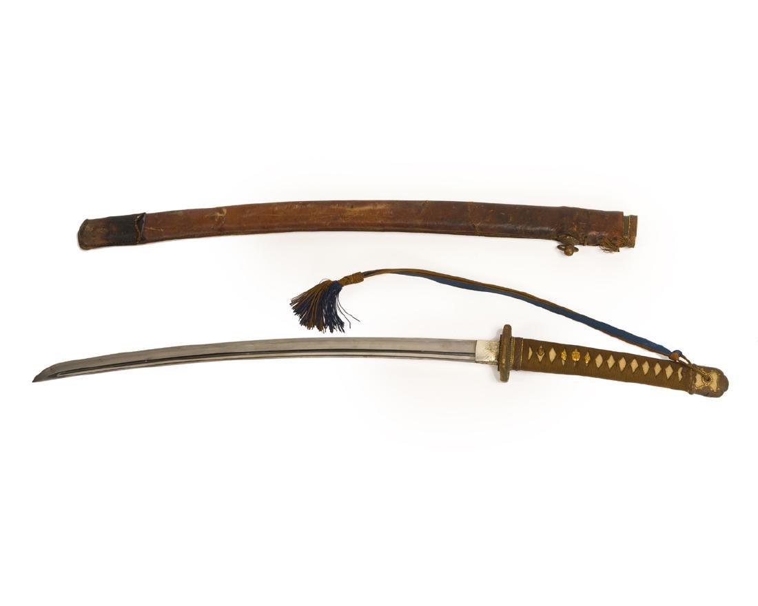 A Japanese katana sword
