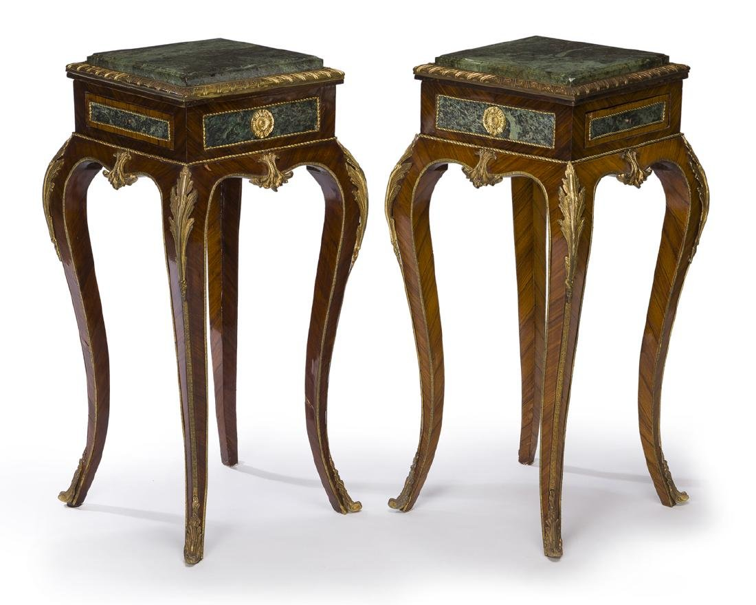 A pair of Louis XV-style lamp tables