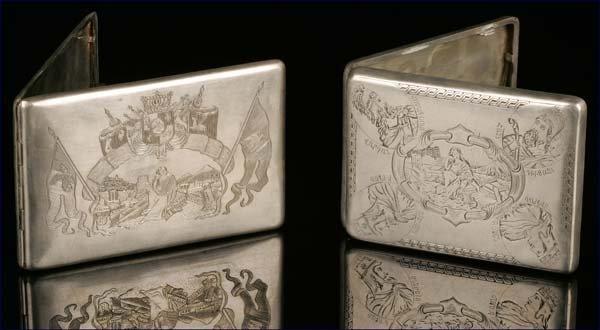 1006: Two Armenian silver cigarette cases, Van