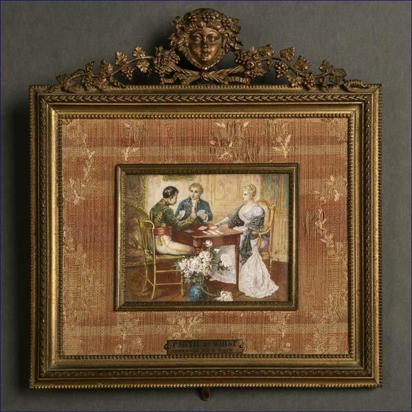 1012: Partie de Whist, French Miniature after Cain