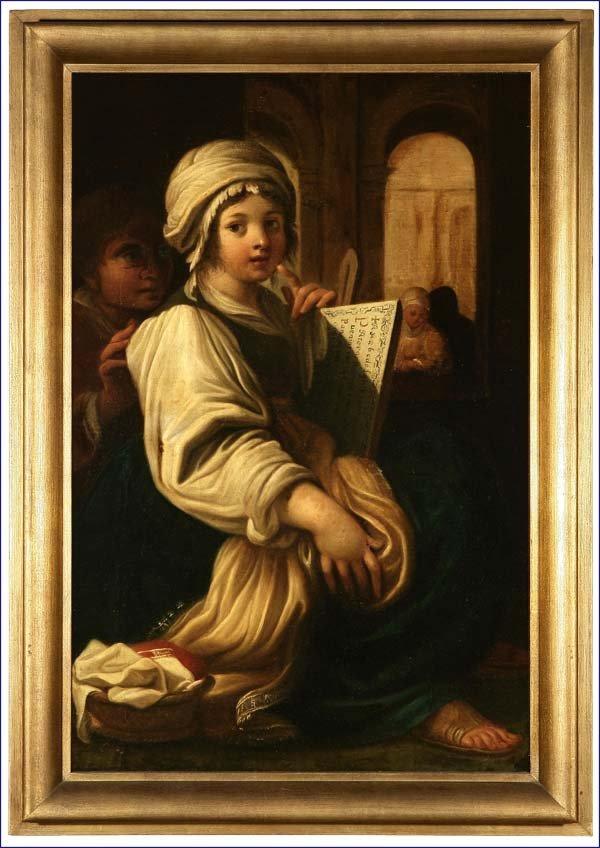 1035: Continental School, 18th c, Annunciation Allegory