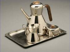 1117: A Karl Hagenauer nickel plated coffee service