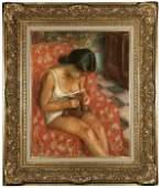 1144 Pierre Deval pastel woman  18971993 French