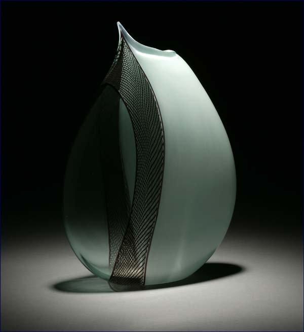 1196: Giampaolo Seguso Murano Vaso Perta art glass vase